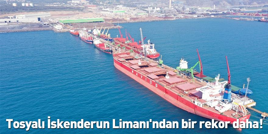 Tosyalı İskenderun Limanı'ndan bir rekor daha!