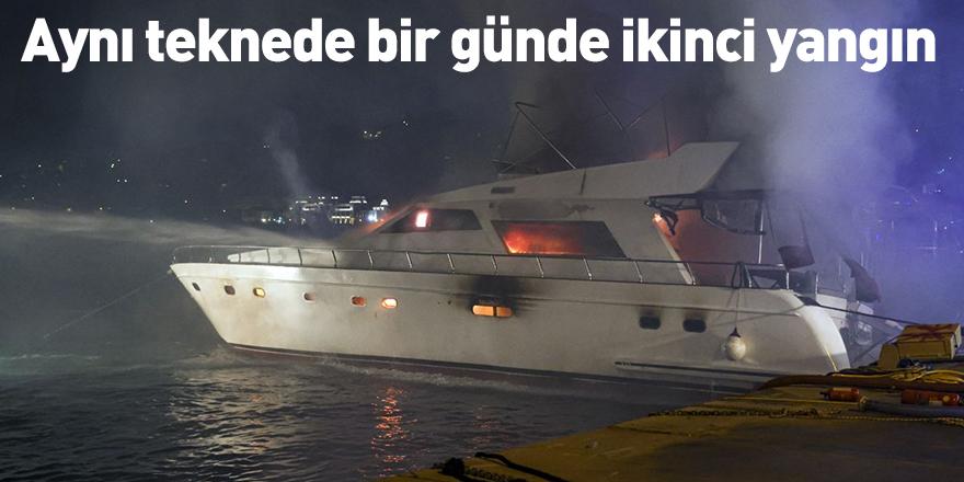 Aynı teknede bir günde ikinci yangın