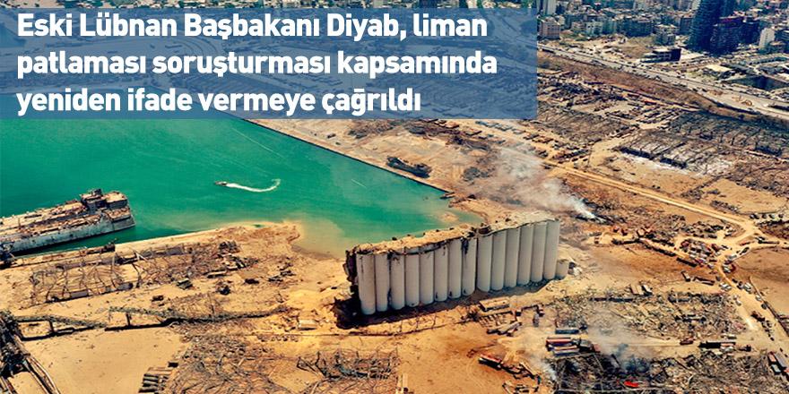 Eski Lübnan Başbakanı Diyab, liman patlaması soruşturması kapsamında yeniden ifade vermeye çağrıldı