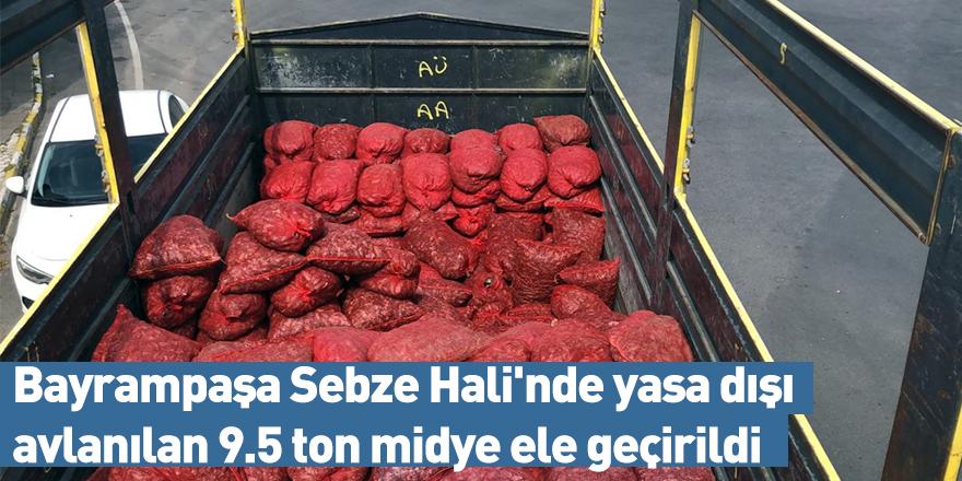 Bayrampaşa Sebze Hali'nde yasadışı avlanılan 9.5 ton midye ele geçirildi