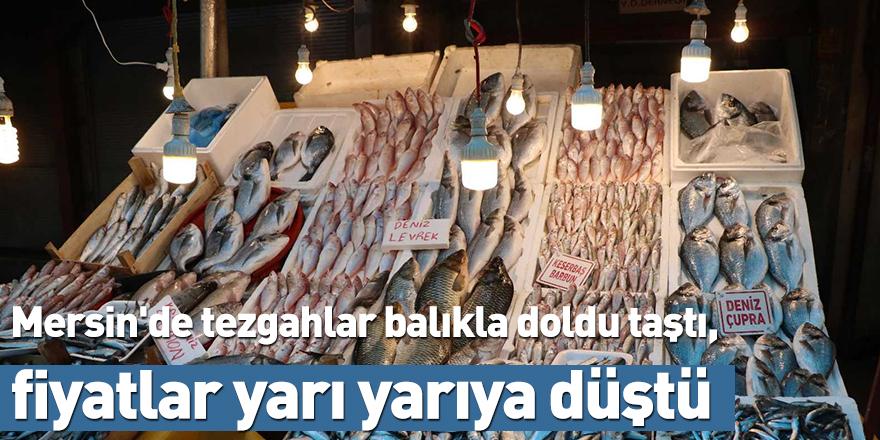 Mersin'de tezgahlar balıkla doldu taştı, fiyatlar yarı yarıya düştü