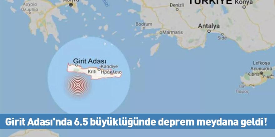 Girit Adası'nda 6.5 büyüklüğünde deprem meydana geldi!