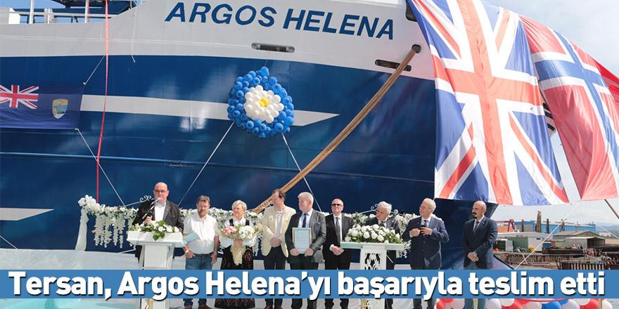 Tersan, Argos Helena'yı başarıyla teslim etti