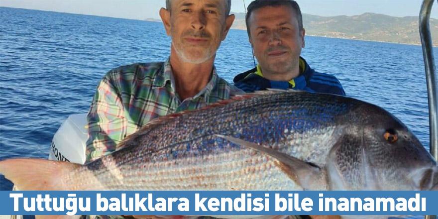 Tuttuğu balıklara kendisi bile inanamadı