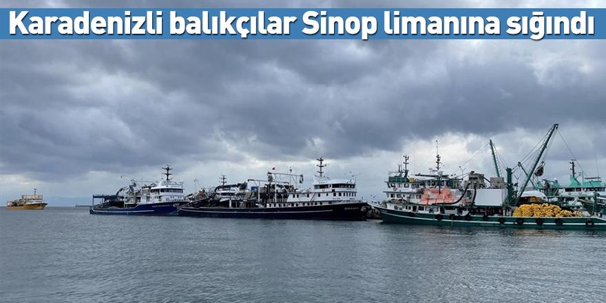 Karadenizli balıkçılar Sinop limanına sığındı
