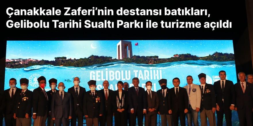 Çanakkale Zaferi'nin destansı batıkları, Gelibolu Tarihi Sualtı Parkı ile turizme açıldı