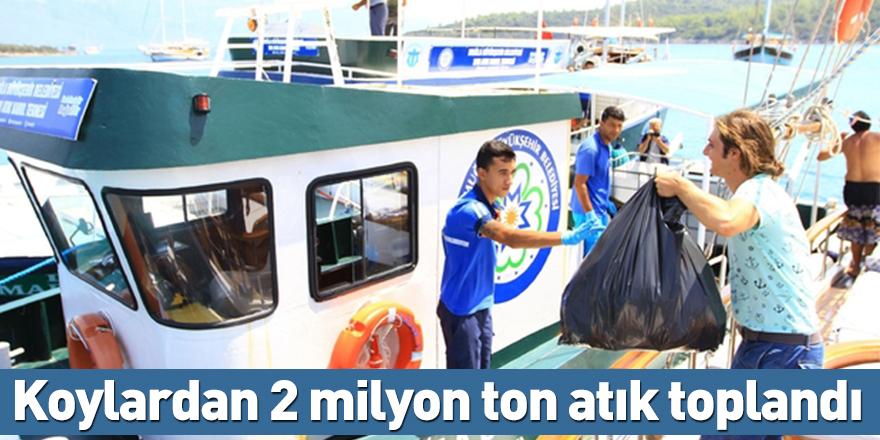 Koylardan 2 milyon ton atık toplandı