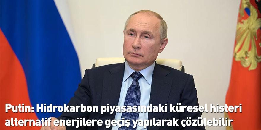 Putin: Hidrokarbon piyasasındaki küresel histeri alternatif enerjilere geçiş yapılarak çözülebilir