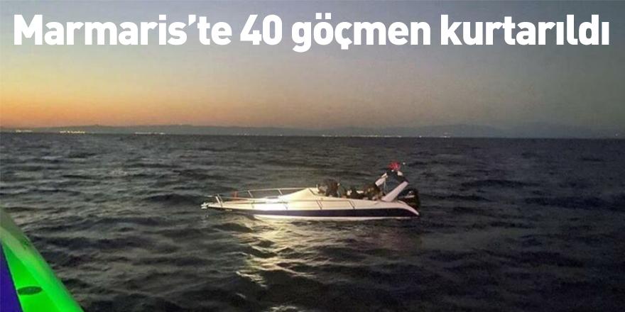 Marmaris'te 40 göçmen kurtarıldı