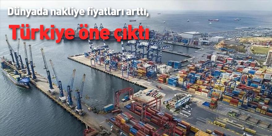 Dünyada nakliye fiyatları arttı, Türkiye öne çıktı