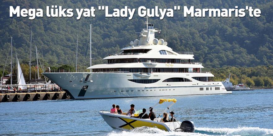 """Mega lüks yat """"Lady Gulya"""" Marmaris'te"""