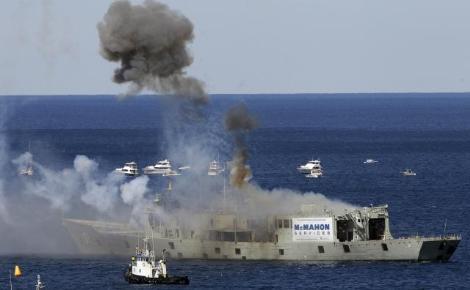 Roket gemisi dalış için batırıldı