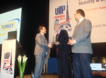 UITP tarafından ödüllendirildi