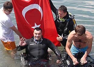 Engellilere dalış eğitimi