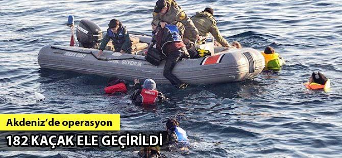 Antalya'da 182 kaçak Sahil Güvenlik tarafından ele geçirildi