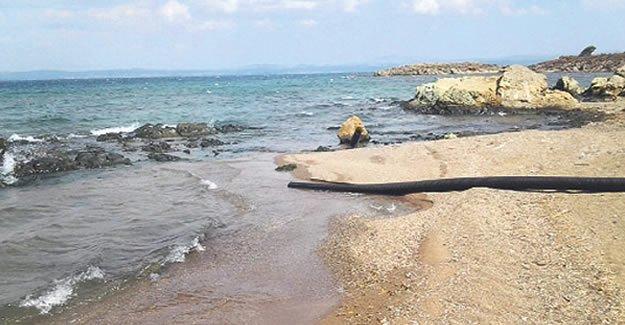 Ayvalık'ın kanalizasyonu denize akıyor