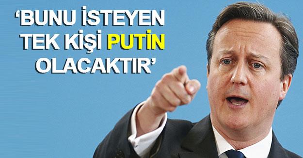 """Cameron: """"AB'den ayrılmamızı isteyebileceğini düşündüğüm tek kişi Vladimir Putin"""""""