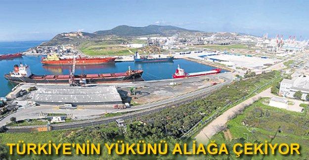 Türkiye'nin yükünü Aliğa Limanları omuzluyor