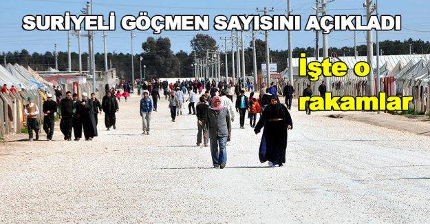 Türkiye'deki Suriyeli göçmen sayısı açıklandı