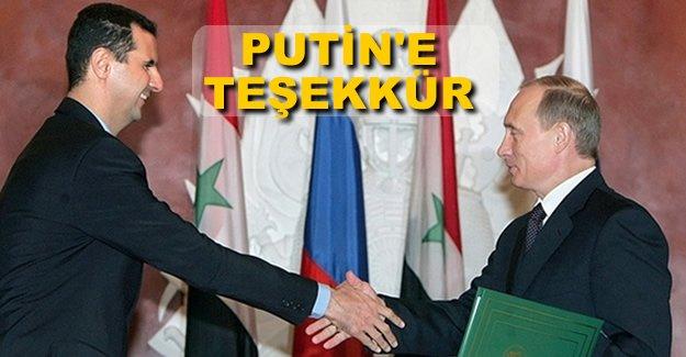 Esad, Putin'e teşekkür etti