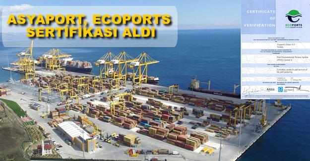 Asyaport, Türkiye'nin ilk ECOPORT PERS sertifikalı limanı oldu