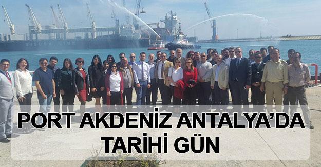 Port Akdeniz Antalya'da tarihi gün