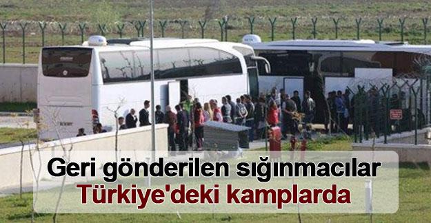 Geri gönderilen sığınmacılar Türkiye'deki kamplarda
