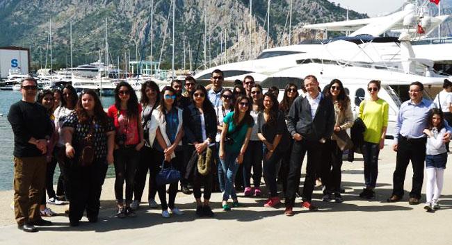 İzmir Ekonomi Üniversitesi öğrencilerinden tersane ziyareti