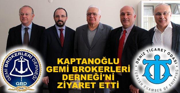 Cengiz Kaptanoğlu, Gemi Brokerleri Derneği'ni ziyaret etti