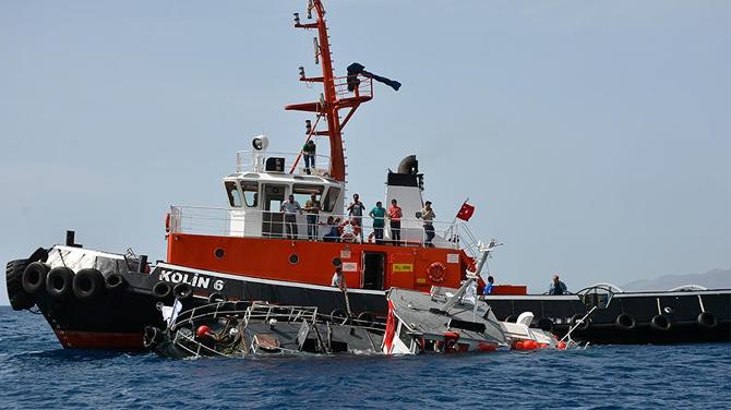 Sahil Güvenlik botu dalış turizmi için batırıldı