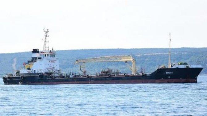Türk bayraklı gemi karaya oturdu