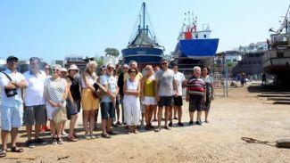 Bodrum'da çekek ve tekne imalatı yeri protestosu