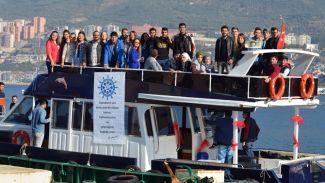 Gemlik Denizcilik Topluluğu tekne ile limanlara teknik gezi düzenledi