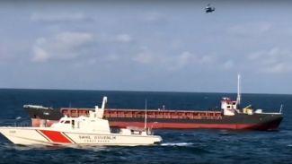 M/V FOM mürettebatı helikopterle kurtarıldı
