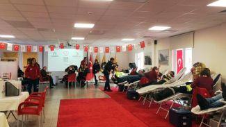 Asyaport çalışanları kan bağışında bulundu
