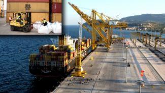 Asyaport'tan mermer granülü ihracatı başladı