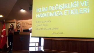 """DTO personeline """"İklim Değişikliği"""" semineri verildi"""