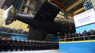Kazan isimli nükleer denizaltı suya indirildi