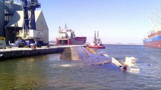 Bandırma Limanı'nda M/V Ali Ağa gemisi battı