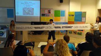 Çocuklar 'Mavi Denizler' için hayal ettiklerini Sabancı Üniversitesi'nde anlattı