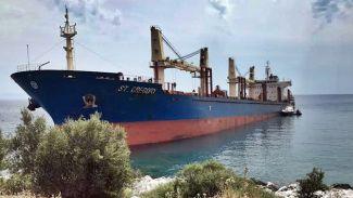 M/V St. Gregory gemisi Yunanistan'da karaya oturdu