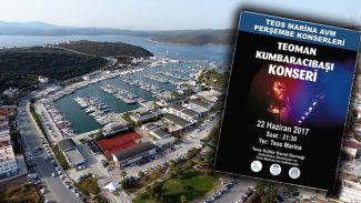 Teos Marina'da Perşembe konserleri başlıyor