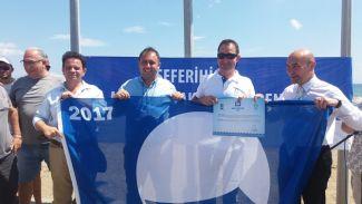 """Teos Marina """"2017 Mavi Bayrak"""" ödülünü aldı"""