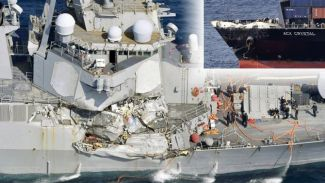 USSFitzgerald ile M/V Acx Crystal gemisi çatıştı