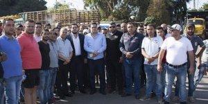 Türk ürünlerinin Beyrut Limanına nakledilmesi protestosu