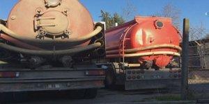 Tuzla'da kimyasalı döken kamyonlar yakalandı