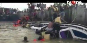 Endonezya'da yine tekne faciası