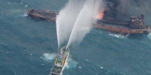 Yanan tanker uluslararası sularda sürükleniyor!