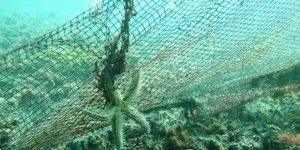 """Denizden binlerce metrekare """"Hayalet Ağ"""" çıkarıldı"""