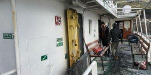 Marmara Denizi'nde seyir halindeki gemide yangın